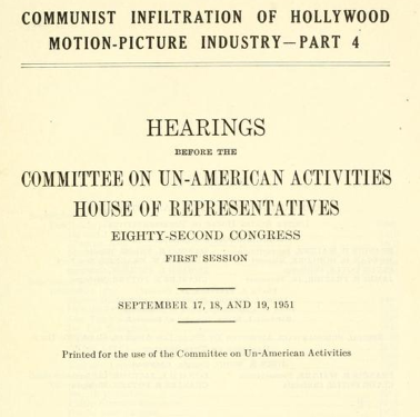 HUAC publication cover